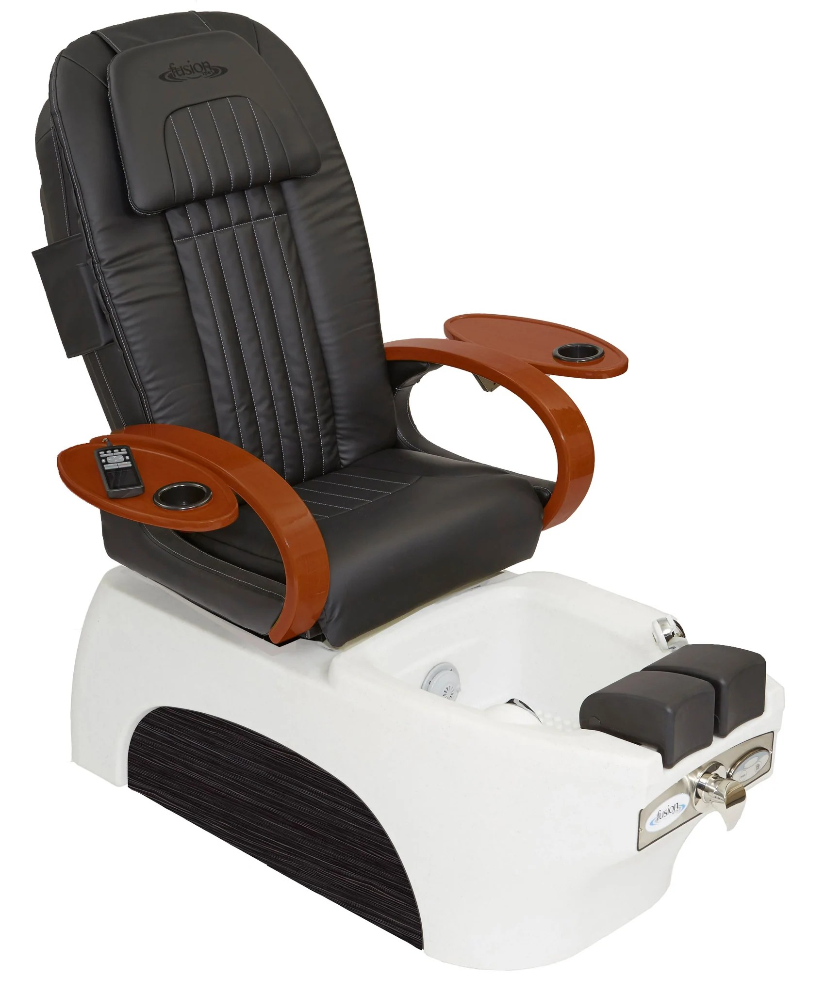 massage pedicure chair office mat walmart fusion spas luna spa w shiatsu manicure tray aria chairs