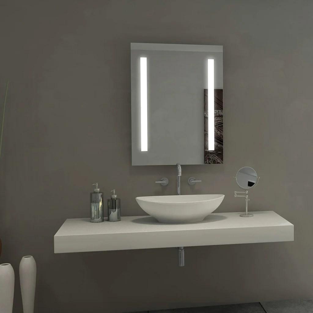 """sasha alexandra led lighted bathroom mirror 30"""" x 42"""" – mega"""