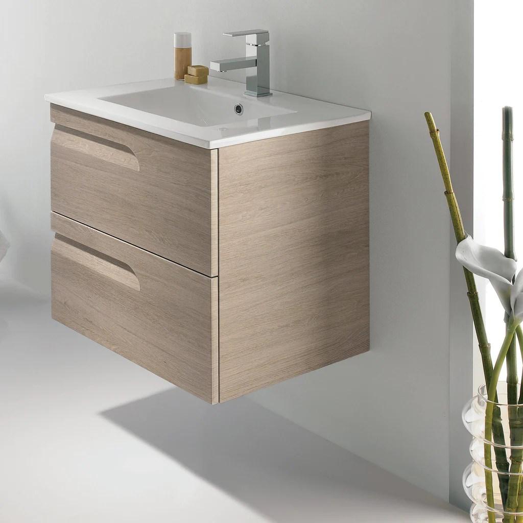 "royo vitale vanity - cabinet and sink 24"" sahara gray - free"