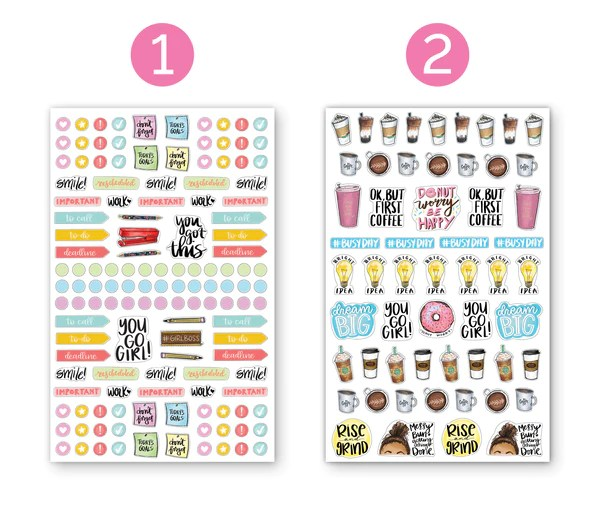 sticker sheets classic planner