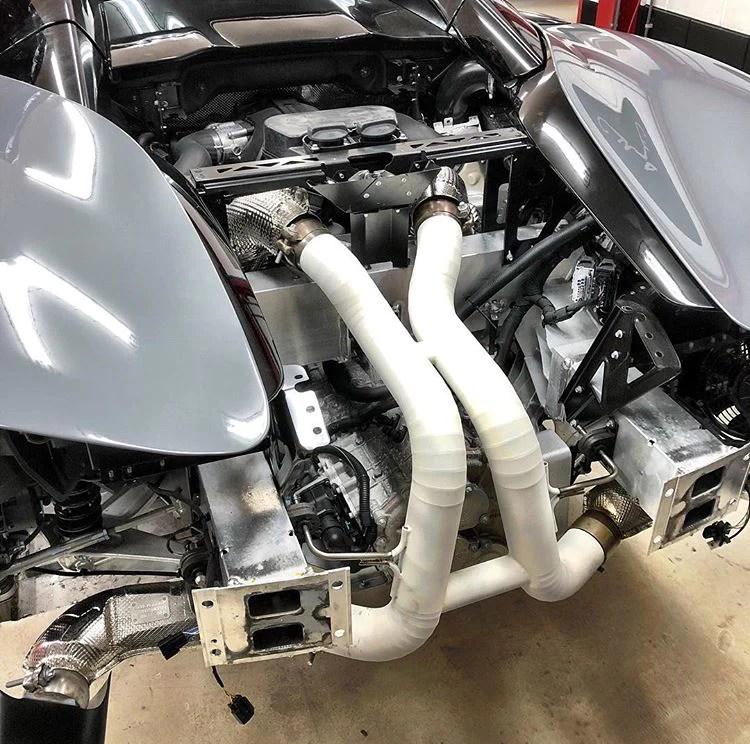 mclaren 570s ceramic coated sport exhaust inc titanium option 2015 on