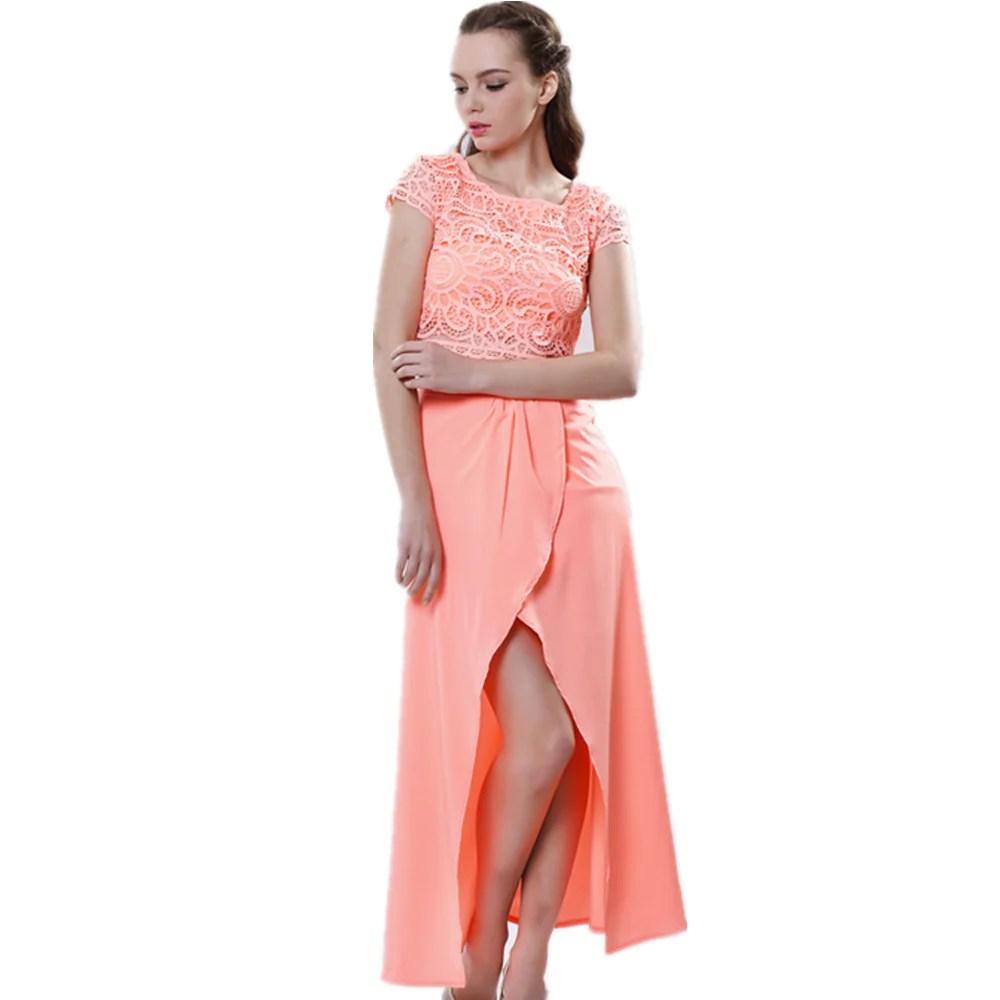 2016 Summer Party Dress Sleeveless -neck Chiffon High