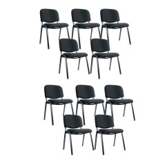 Ergonomic Chair Settings For Teenage Bedroom S14 Office Set Of 10 Black Suchprice Singapore