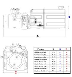 3 quart 12v kti double acting hydraulic pump [ 980 x 1024 Pixel ]