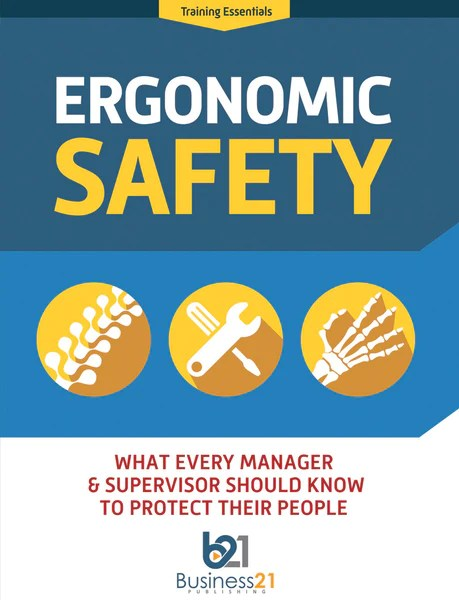 ergonomic chair law blue leather dining chairs safety: what every manager & supervisor should know to prote - business 21 publishing