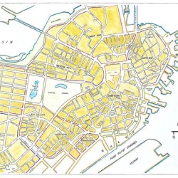 boston neighborhoods map central maker hand maps