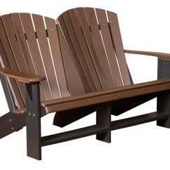 Double Adirondack Chairs With Umbrella Mesh Task Chair Little Cottage Heritage  Ski Haus Inc