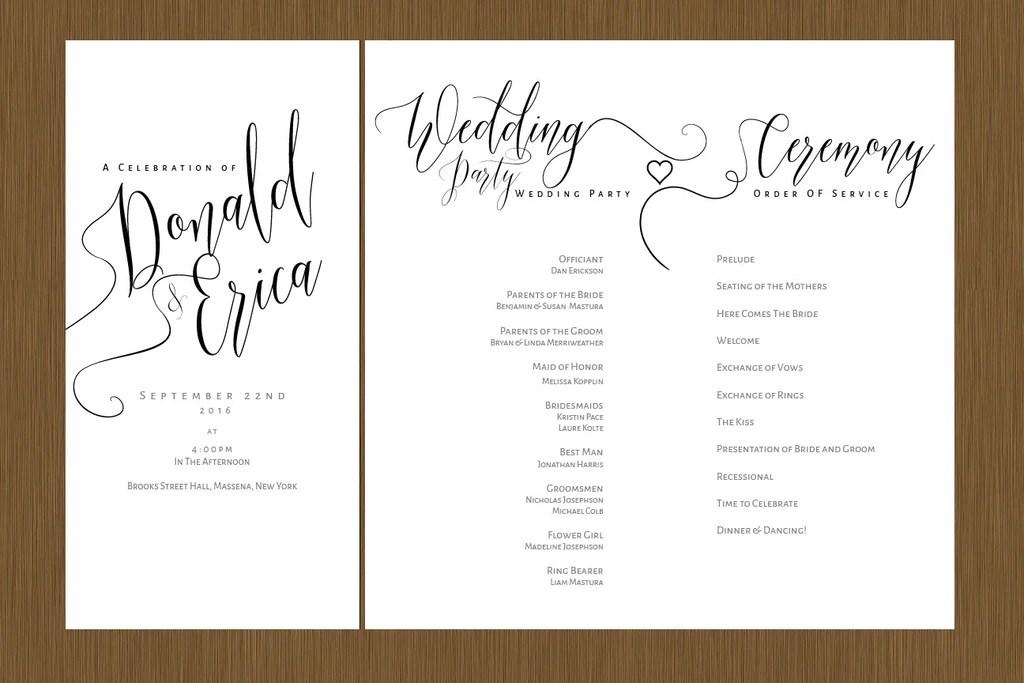 A Beautiful Wedding Program – Detail Wedding Design