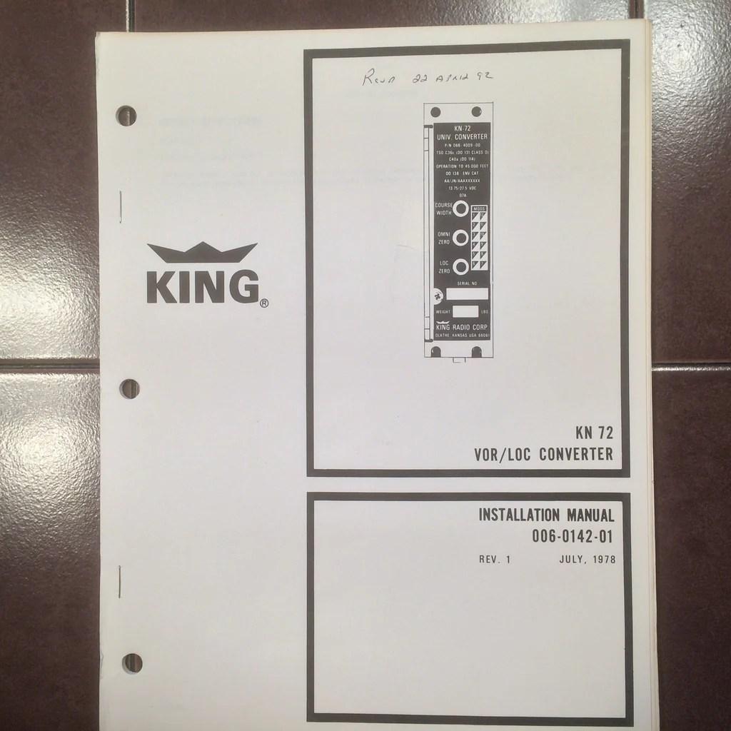 King Kn 72 Vor Loc Converter Install Manual. ' Plane Stuff