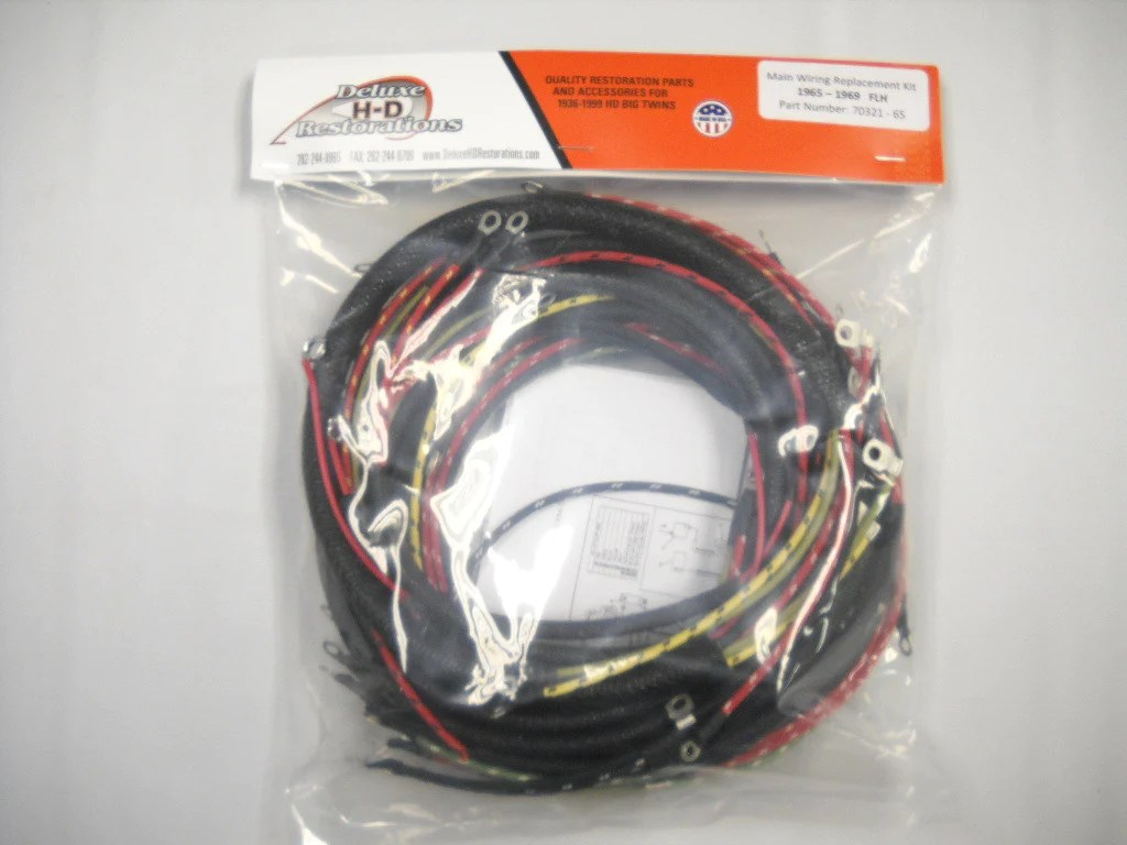 70321 65 panhead shovelhead complete wire harness usa made deluxe hd restorations [ 1024 x 768 Pixel ]