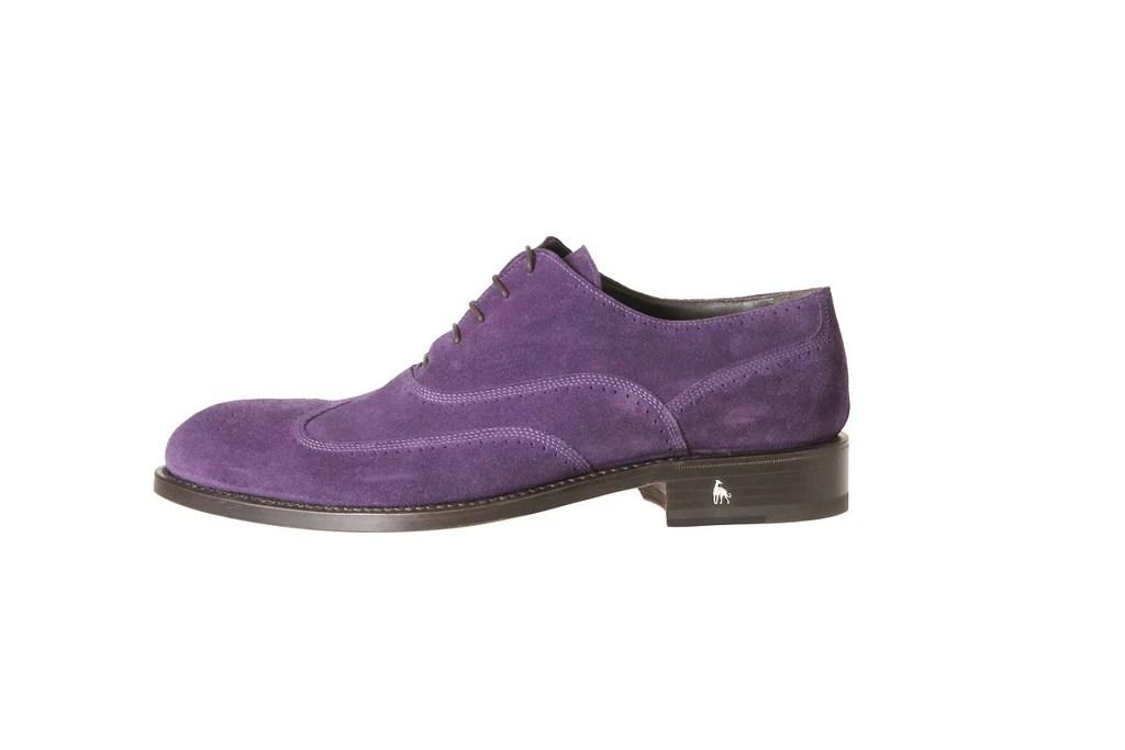 como purple oxford shoes