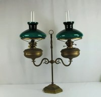 """Bankers Double Oil Lamp Duplex Made In England 23"""" x 23 1 ..."""