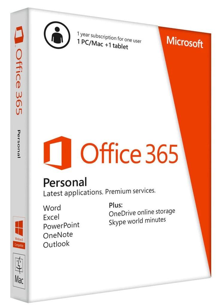 Microsoft Office 365 Personal 1 Year Pc Or Mac Key Card