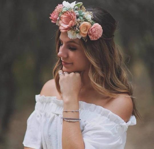 bridal flower crown sola
