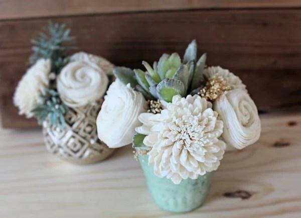 Mini Artificial Succulent arrangement centerpiece