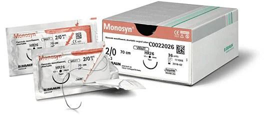 BBraun Monosyn Absorbable Monofilament Suture