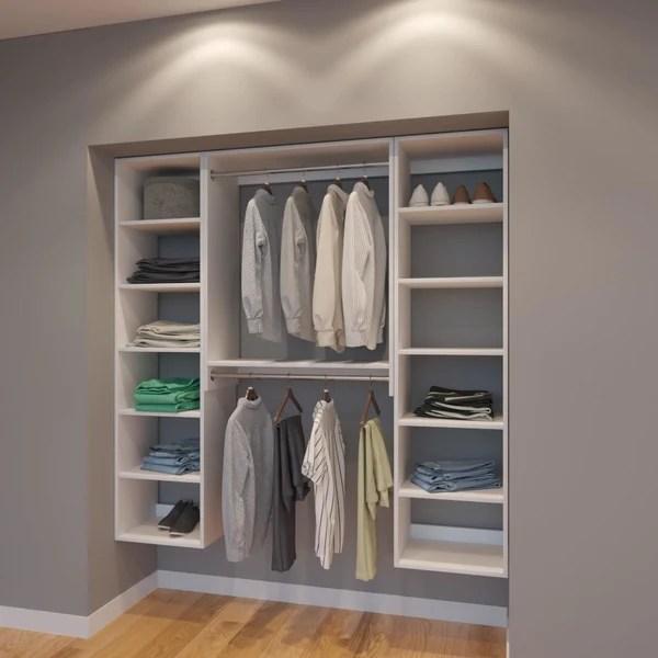 Modular Closets 6 FT Plywood Closet Organizer System  72