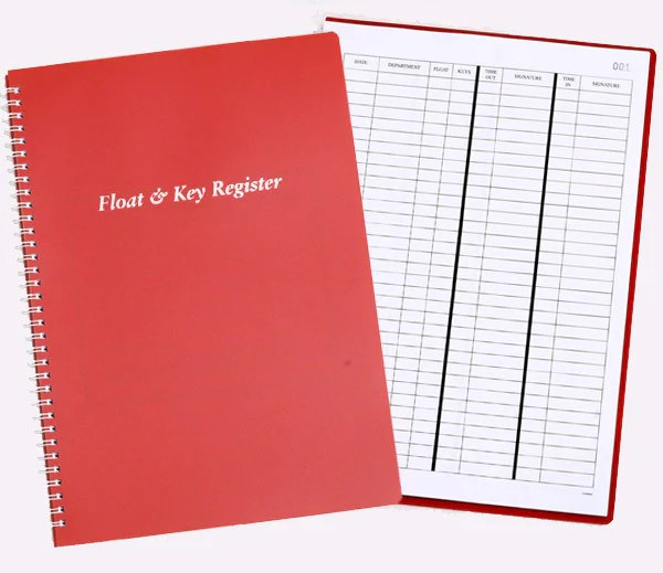 Float  Key Register Book  Charisma Pads