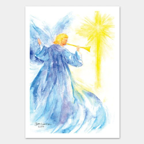Angel And Star Watercolor Christmas Card Set Susan Windsor