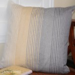 Hombre Yellow Gray And Cream Stripe Large Soft Accent Throw Pillow Lavish Three