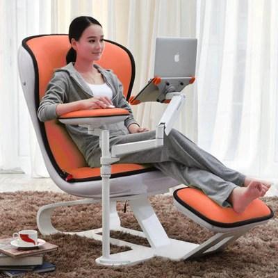Ergonomic Chair com Recliner wth Laptop  Tablet Arms