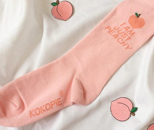 I Am Just Peachy Unisex Socks