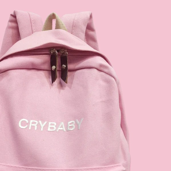 pink tumblr aesthetic backpack