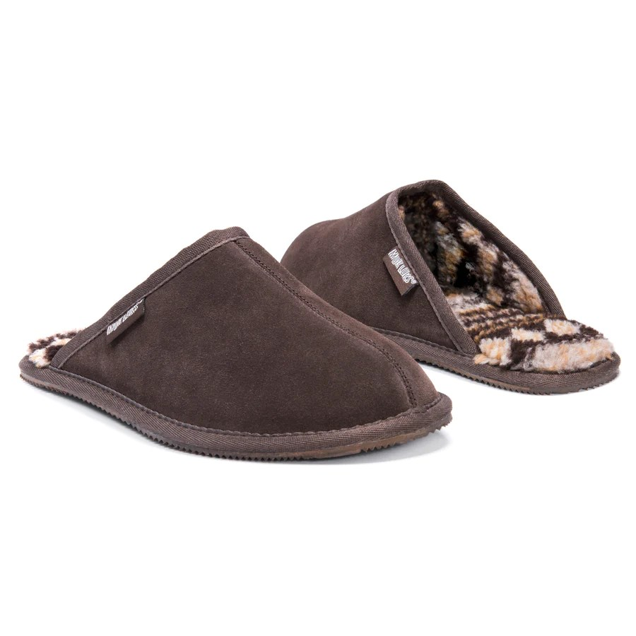 Mens Chocolate Slippers Clog