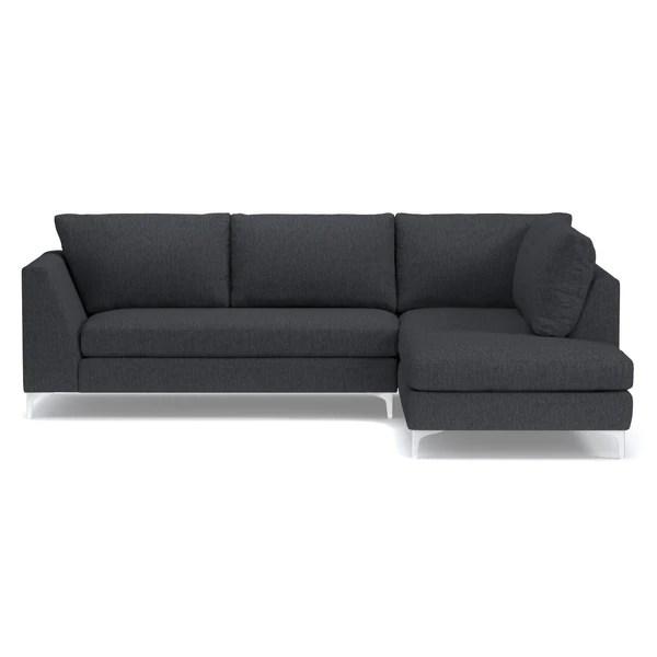 apt size sectional sofas roche bobois sofa uk mulholland 2pc choice of fabrics – apt2b