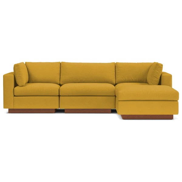 Taylor Plush 4pc Modular Chaise Sectional  Choice of Fabrics  Apt2B
