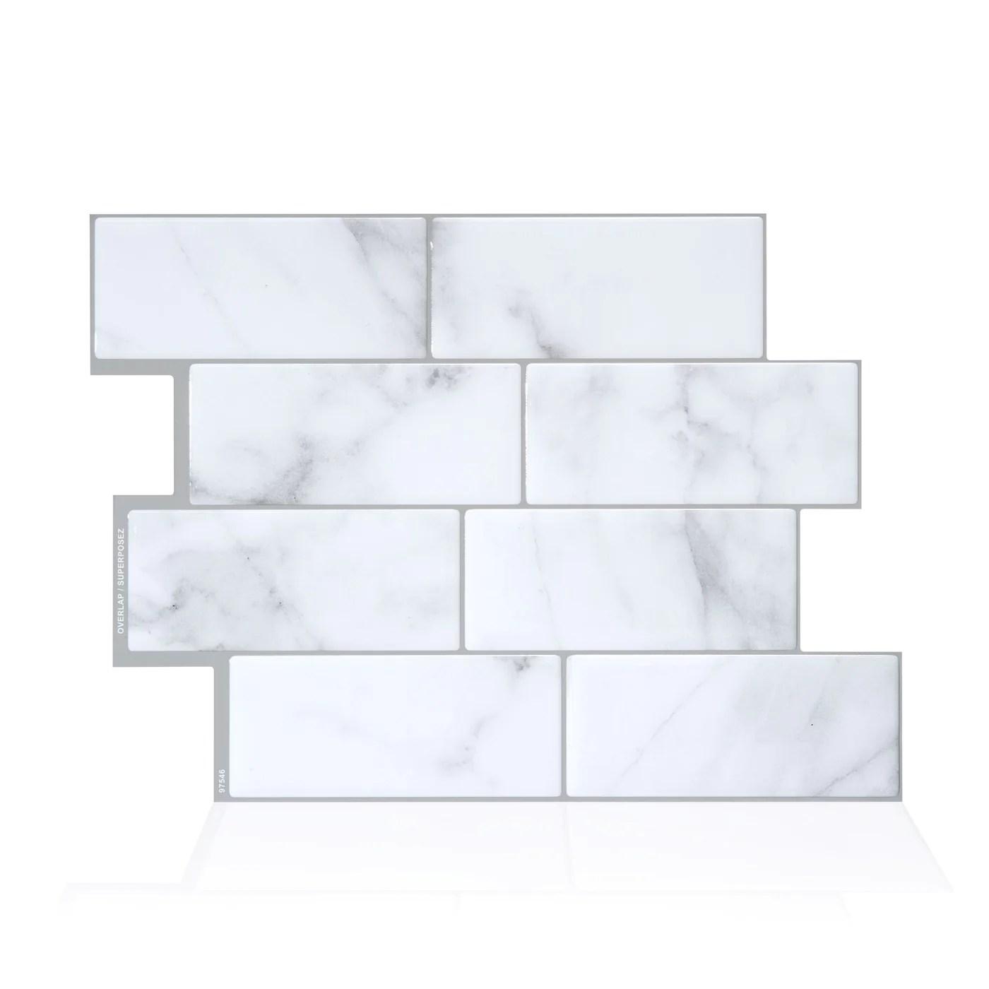 smart tiles metro carrera subway peel and stick tile