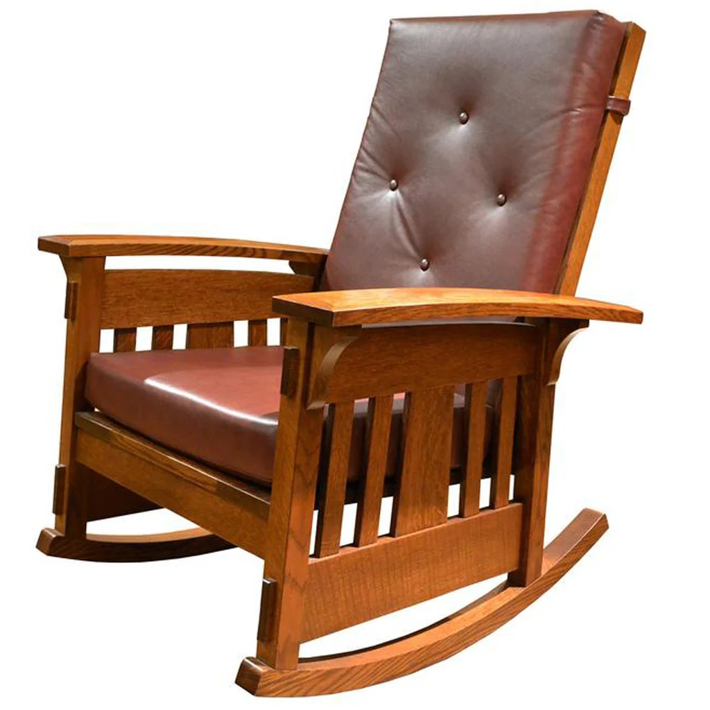 Amish Rocking Chair Amish Built Mission Style Rocking Chair Year Of Clean Water