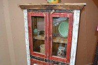 Rustic Distressed Reclaimed Wood Curio glass Cabinet ...