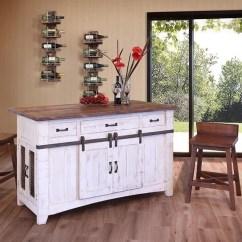 Distressed Kitchen Island Glass Tiles For Backsplash Greenview White