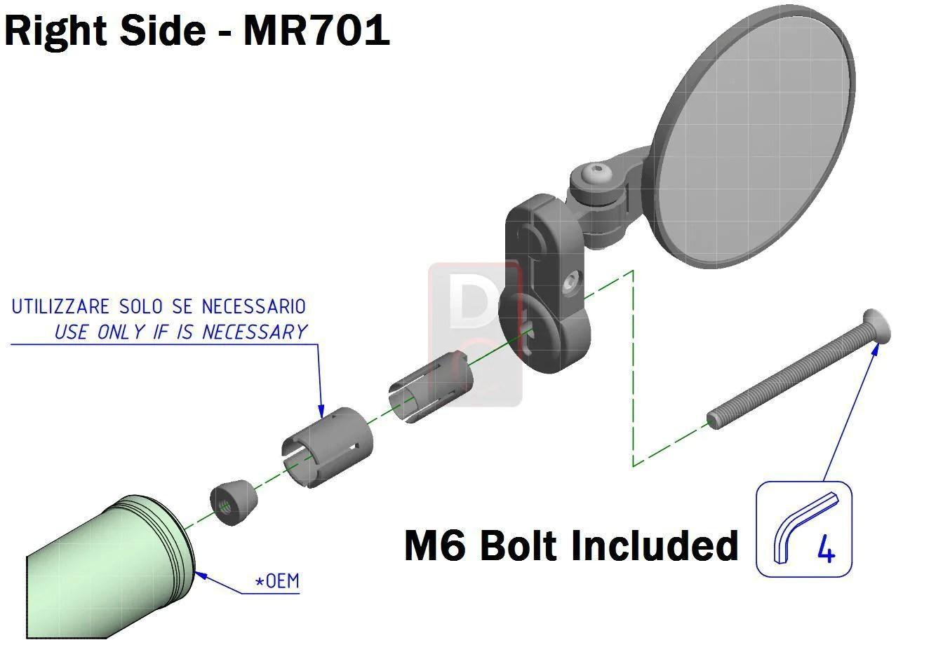 cnc racing rocket handlebar bar ends mirrors mirrors accessories design corse [ 1354 x 950 Pixel ]