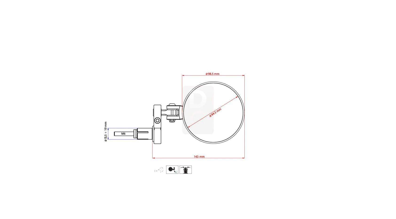 cnc racing rocket handlebar bar ends mirrors mirrors accessories design corse [ 1685 x 935 Pixel ]