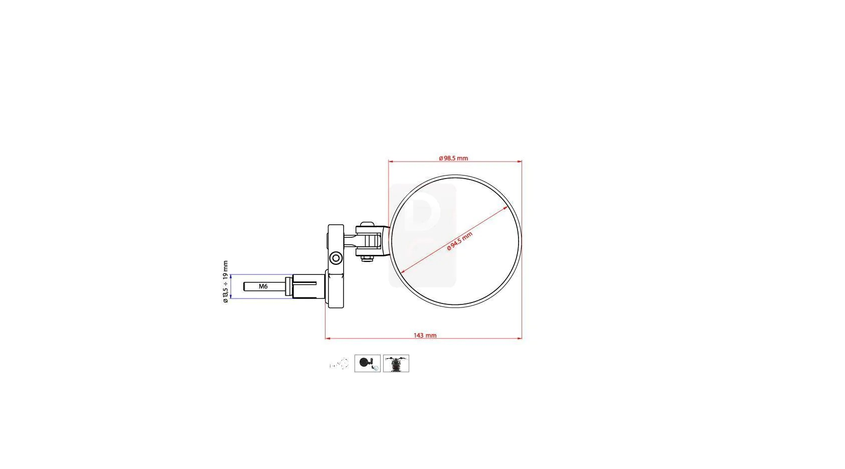 hight resolution of cnc racing rocket handlebar bar ends mirrors mirrors accessories design corse