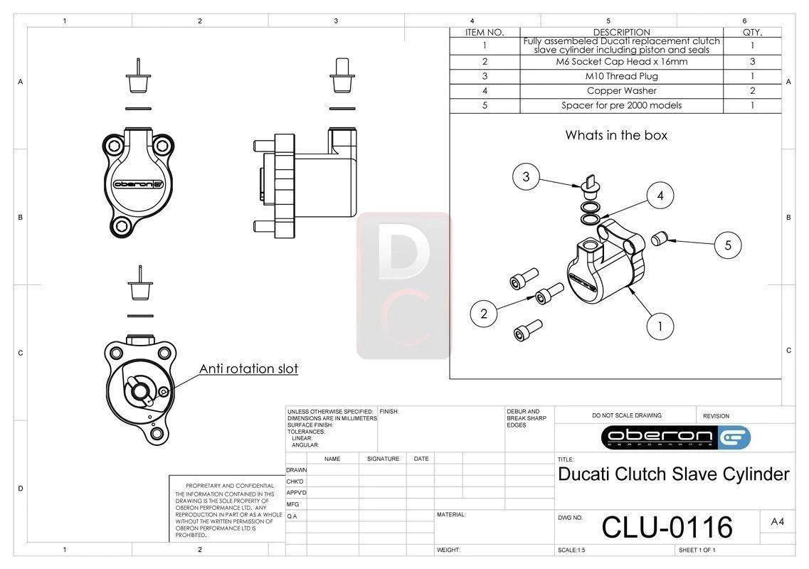 medium resolution of ducati clutch slave cylinder oberon clutch slave cylinders design corse