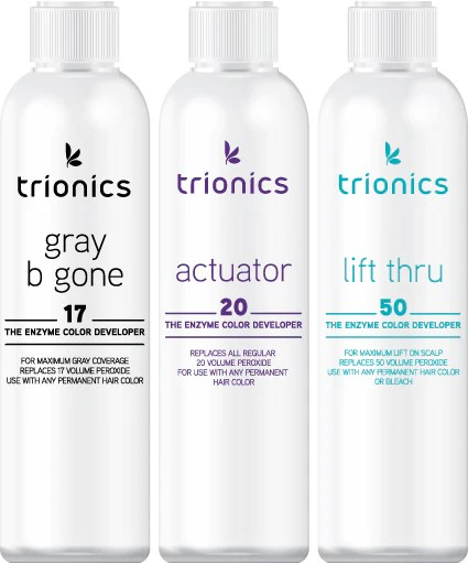color developers trionics hair