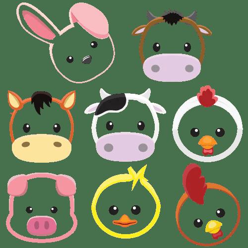 baby farm animals rainbow