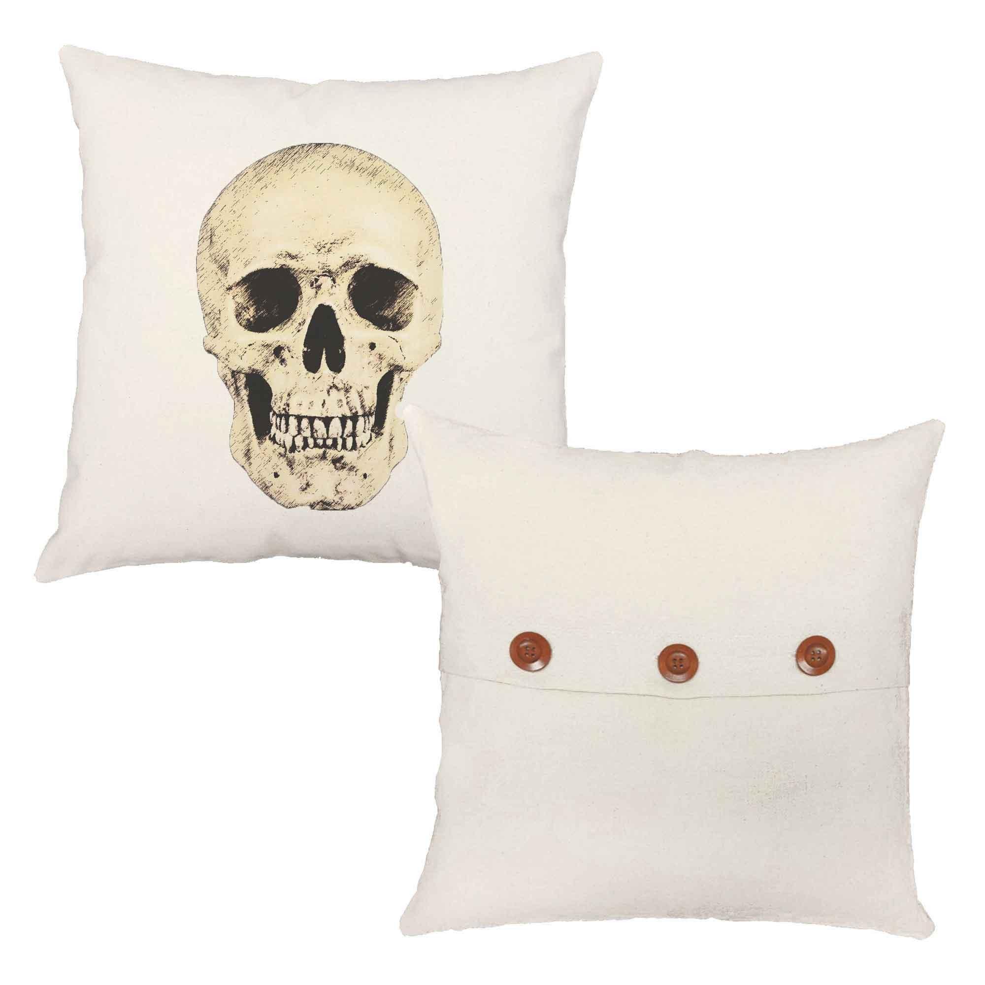 victorian skulls throw pillows