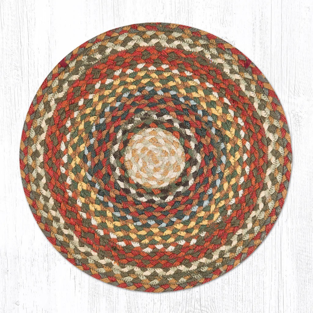 Ch-300 Honey Vanilla Ginger Chair Pad Braided Rug Place