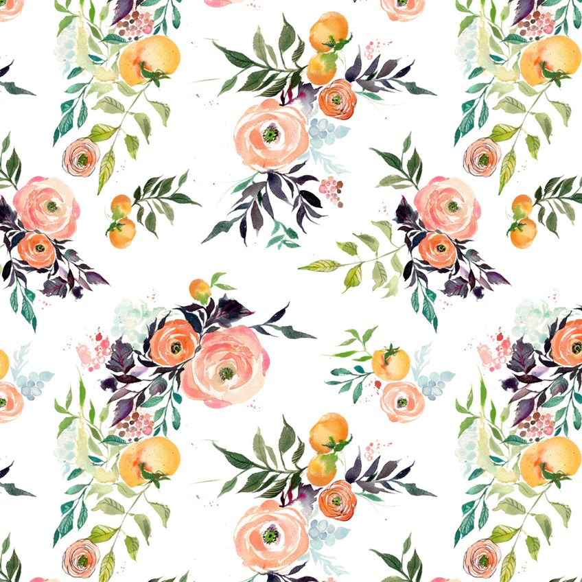 Fall Lilly Pulitzer Wallpaper Fruits And Blooms Watercolor Wallpaper Kristyrice Com