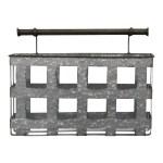 Stratton Home Decor Galvanized Metal Wall Basket