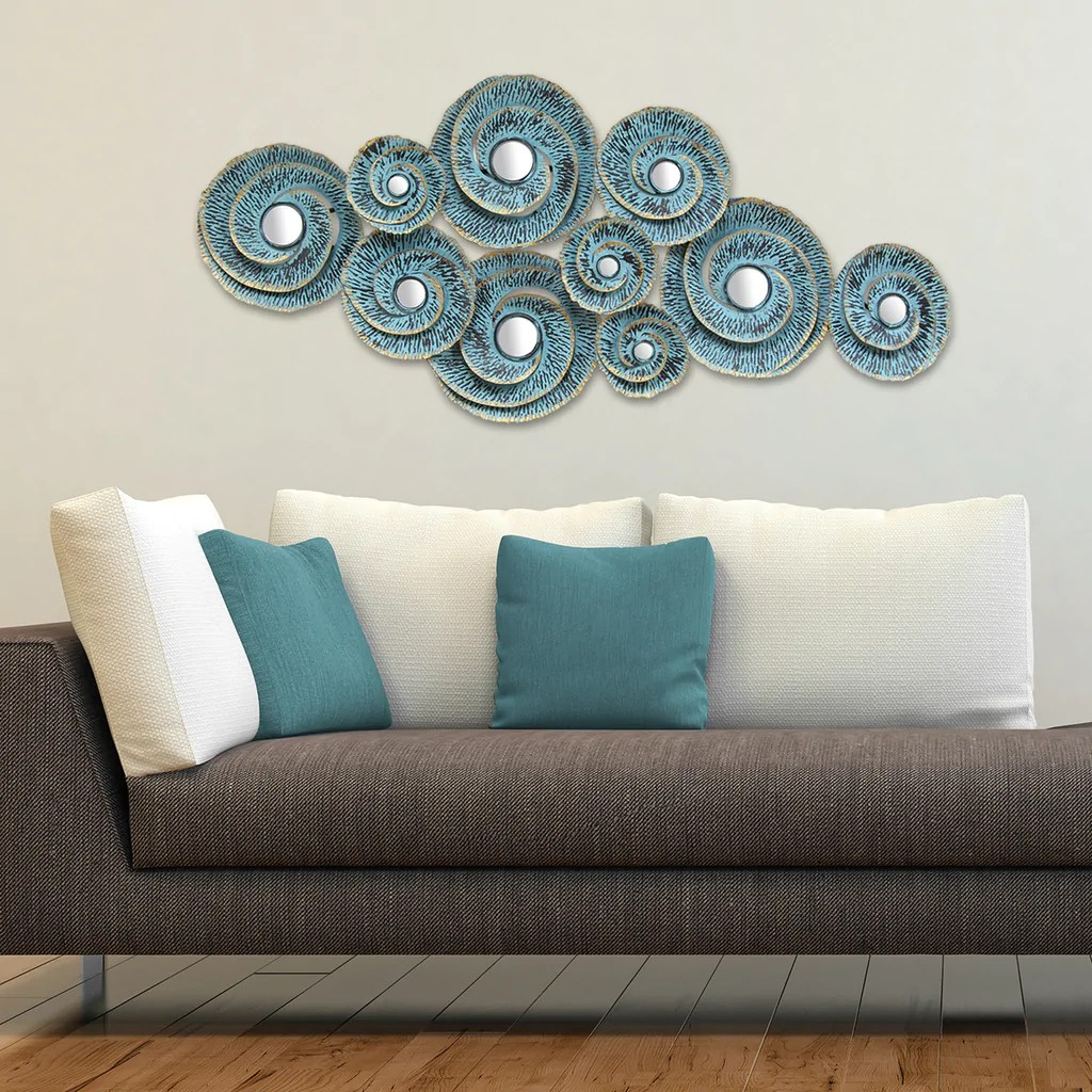 Decorative Waves Metal Wall Stratton Home Decor
