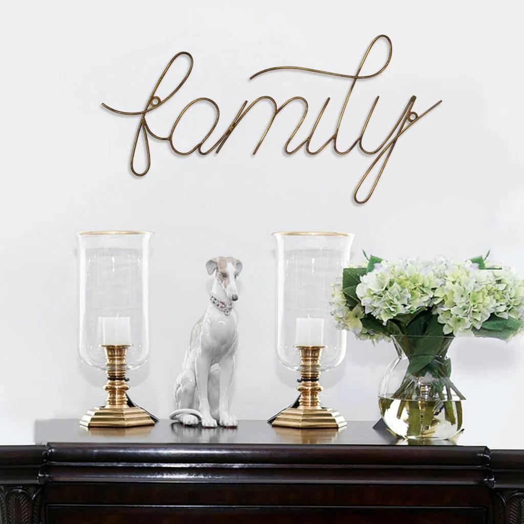 Family Wire Script Wall Decor Stratton Home Decor