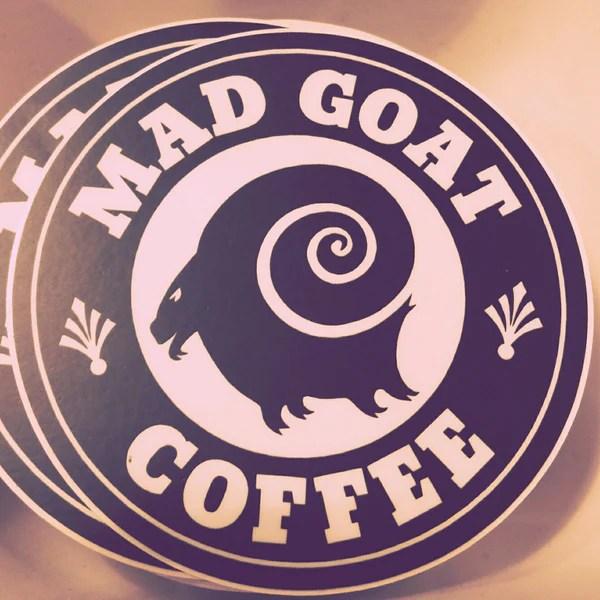 Mad Goat Logo Sticker Mad Goat Coffee