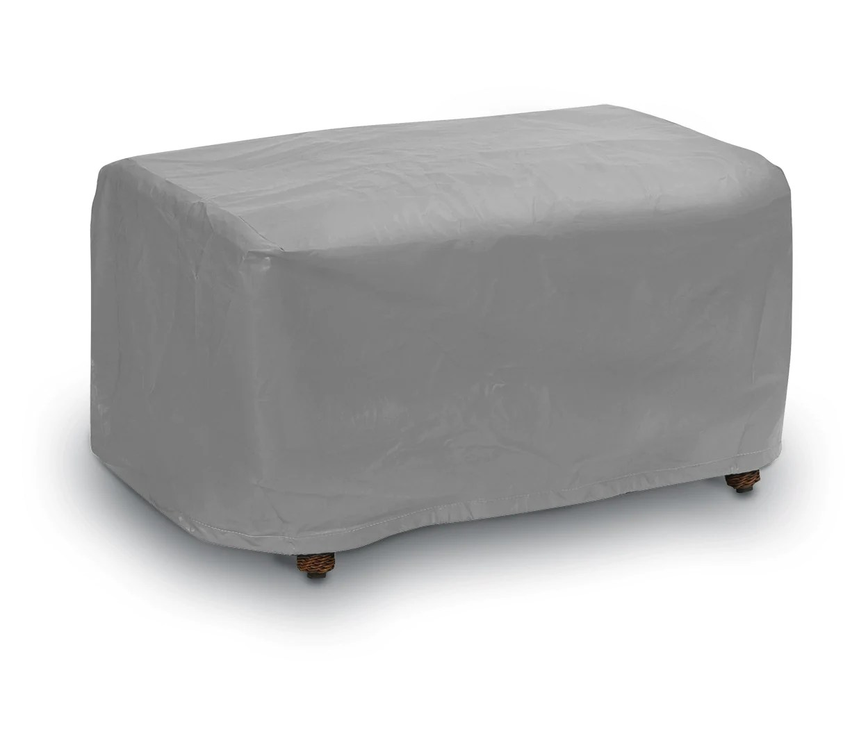 grey patio chair covers used restaurant chairs waterproof outdoor furniture ottoman small cover