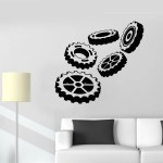 Vinyl Wall Decal Car Service Steering Wheels Garage Decor Stickers Mur Wallstickers4you