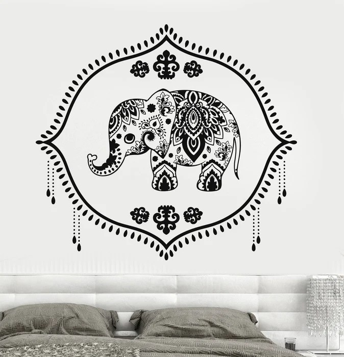 vinyl wall decal indian